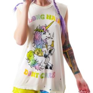 UNIF LONG HAIR DON'T CARE TANK